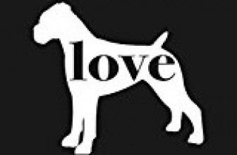 Boxer (Uncropped Ears) Love – Car Window Vinyl Decal Sticker