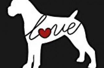 Boxer Love (Uncropped Ears) – Car Window Vinyl Decal Sticker (Script Font)