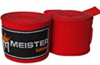 Meister Adult 180″ Semi-Elastic Hand Wraps for MMA & Boxing (Pair) – Red