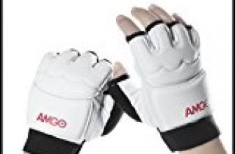mgo Professional Leather Half Finger Taekwondo Gear Thai Training Punching Bag Boxing Half Mitts Sparring Gloves Unisex Men Women Kids (XXl)