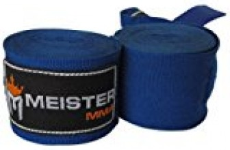 Meister Adult 180″ Semi-Elastic Hand Wraps for MMA & Boxing (Pair) – Blue
