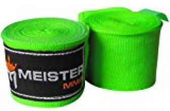 Meister Adult 180″ Semi-Elastic Hand Wraps for MMA & Boxing (Pair) – Neon Green