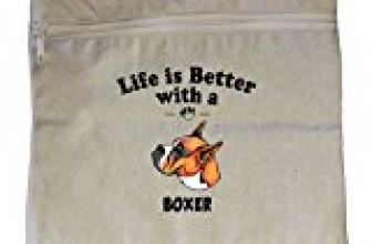 Canvas Zipper Pouch Tote Bag 10″X12″ Life Is Better Boxer Dog Style In Print