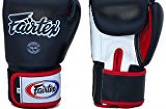 Fairtex Gloves Muay Thai Boxing Sparring BGV1 Size 8, 10, 12, 14, 16 oz in Black, Blue, Red, White, Pink, Classic Brown, Emerald Green, Thai Pride, US, Nation and more (Black/White/Red,16 oz)