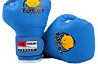 Cheerwing PU Kids Children Cartoon Sparring Dajn Boxing Gloves Training Age 5-10 Years (Blue)