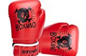 Dtown Kids Boxing Gloves,Red Thai Boxing Gloves MMA Sparring Gloves Cross Training Gloves 4oz Red Boxing Gloves