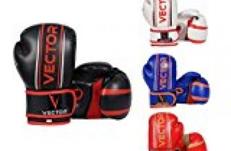 Vector Sports Maya Hide Leather Hand Crafted Pro Style Kids Boxing Kickboxing Children MMA Sparring Gear Junior Heavy Bag Training Gloves (Orange/Blue , 6 oz)