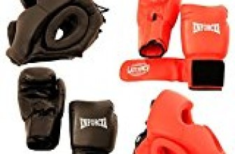 Set 2 Pairs Professional Boxing Gloves 16oz Sparring – 2 Headgears – [S103]