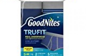 GoodNites Tru-Fit Real Underwear with Nighttime Protection Starter Pack for Boys, Small and Medium, 2 Underwear and 5 Disposable Inserts