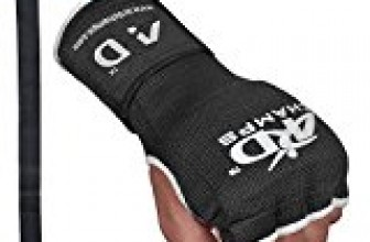 ARD Training Boxing GEL Padded Inner Gloves Hand Wraps MMA Muay Thai Martial Arts Fist Protector Mitts (Black, Medium)