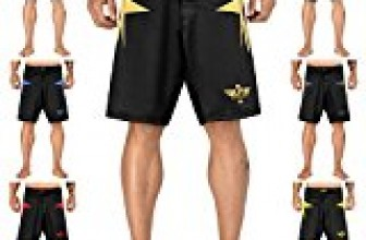 Elite Sports Sublimation Series Fight Shorts, UFC/MMA/BJJ/Muay Thai/WOD/Nogi/Kickboxing/Boxing, Gold, X-Large