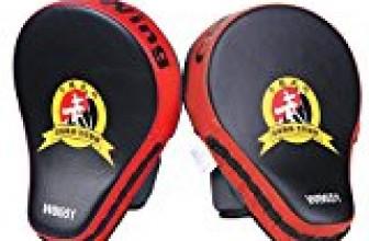 Cheerwing New Target MMA Boxing Mitt Focus Punch Pad Training Glove Karate Muay Thai Kick (Red (1 Pair))