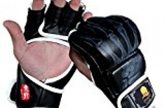 Punching Gloves, ZOOBOO Half-finger Boxing Fight Gloves MMA Mitts with Velcro Wrist Band for Sanda Sparring Bag Training (One Size Fits Most)