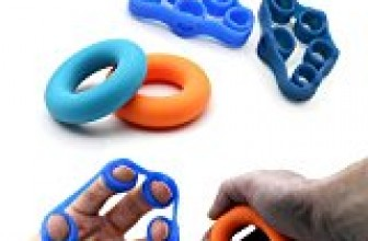 Finger Grip, Finger Strengthener, Exercise Rings, Finger Extensor Bands, Finger Resistance Bands, Finger Exerciser and Exercise Ring, Injury Rehabilitation and Stress Relief (4 Pack)