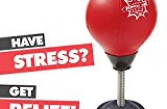 Stress Buster Desktop Punching Ball – Relieves Stresses & Good for Exercise – Super Strong Suction Cup Holds Securely on Smooth, Flat and Dry Surface – Pump Included – Just Punch Me!