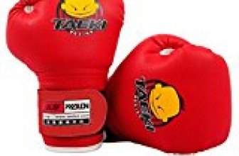 Cheerwing PU Kids Children Cartoon Sparring Dajn Boxing Gloves Training Age 5-10 Years (Red)