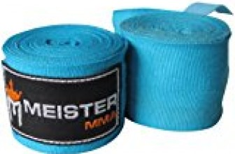 Meister Adult 180″ Semi-Elastic Hand Wraps for MMA & Boxing (Pair) – Turquoise
